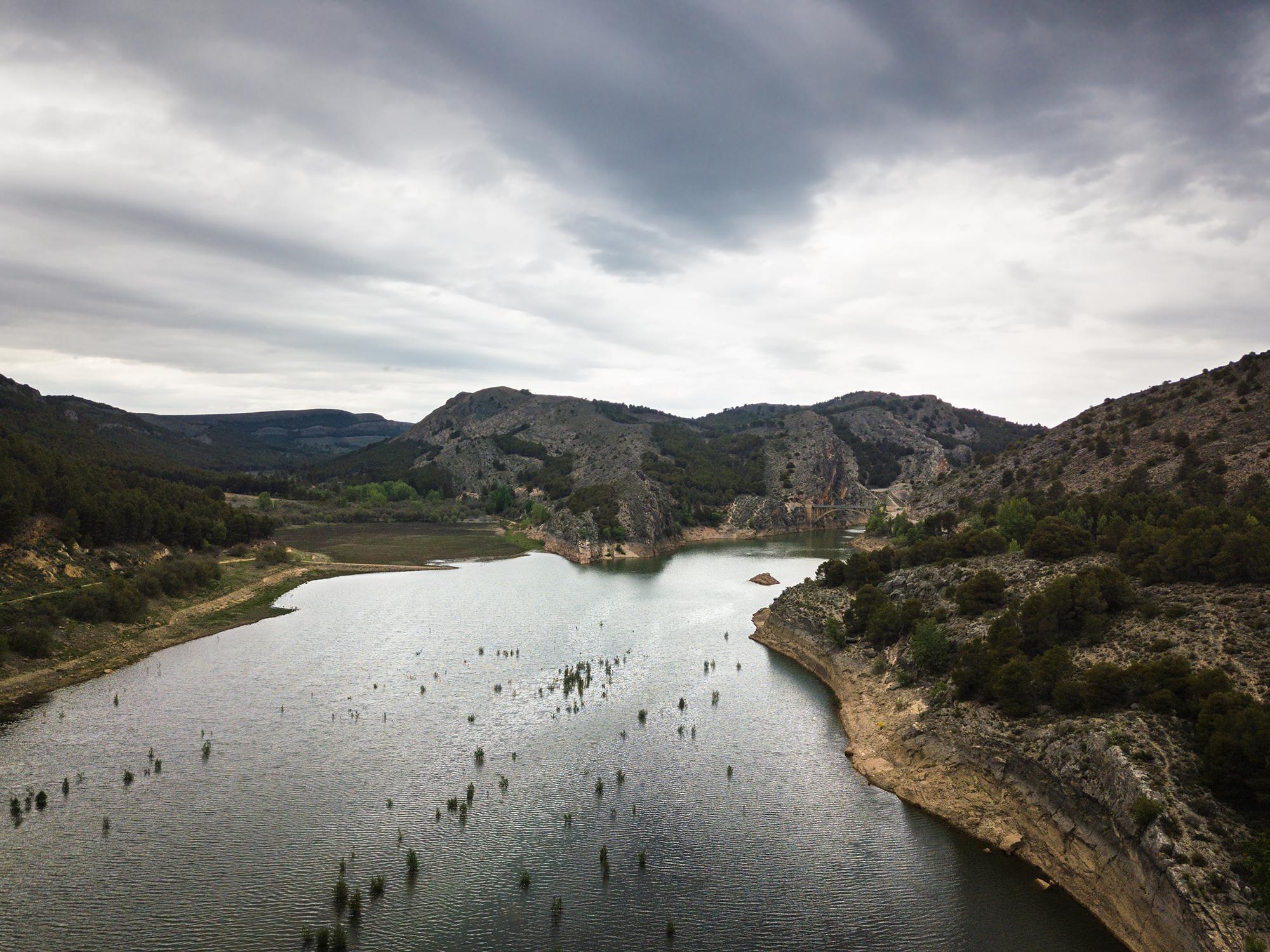 Embalse de La Tranquera reservoir in Aragon