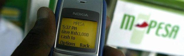 The use of M-Pesa in Kenya (Image credit: BBC UK)