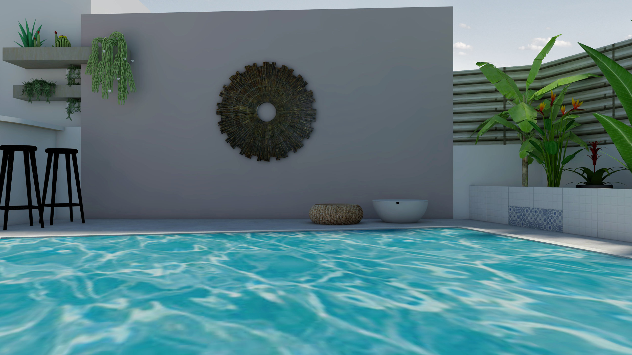 PRIVATE POOLSIDE LAYOUT - ΔΙΑΜΟΡΦΩΣΗ ΙΔΙΩΤΙΚΗΣ ΠΙΣΙΝΑΣ