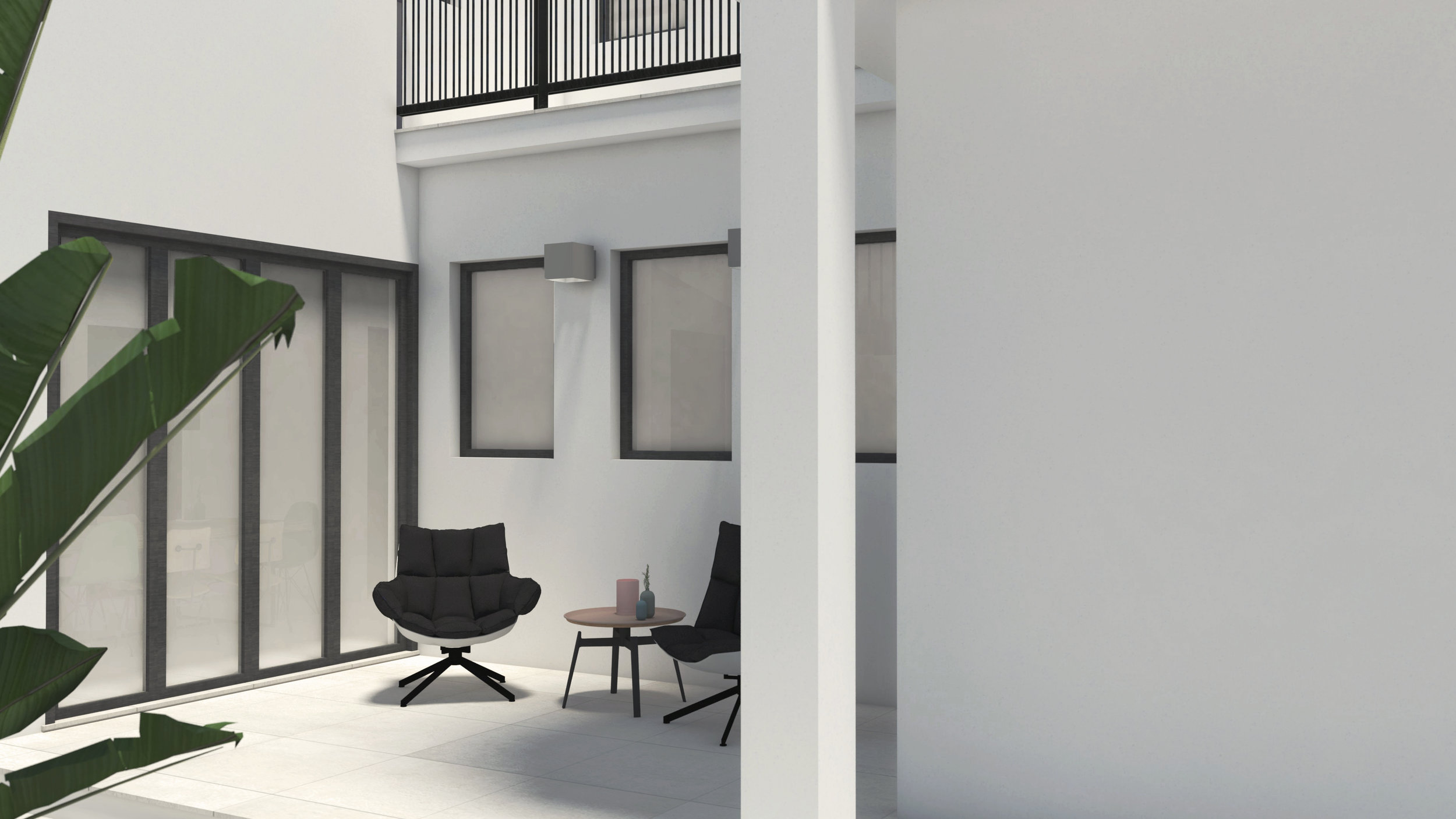 MINIMAL HOUSE - PRIVATE COURTYARD EXTERIOR LIVING SPACE