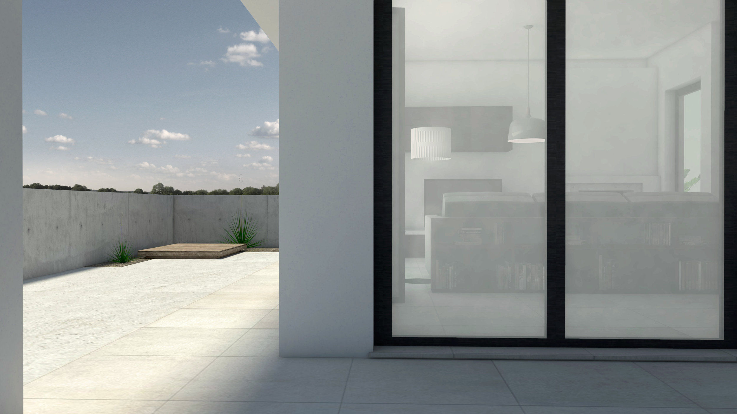 MINIMAL HOUSE - ARCHITECTURAL RENDER EXTERIOR VIEW