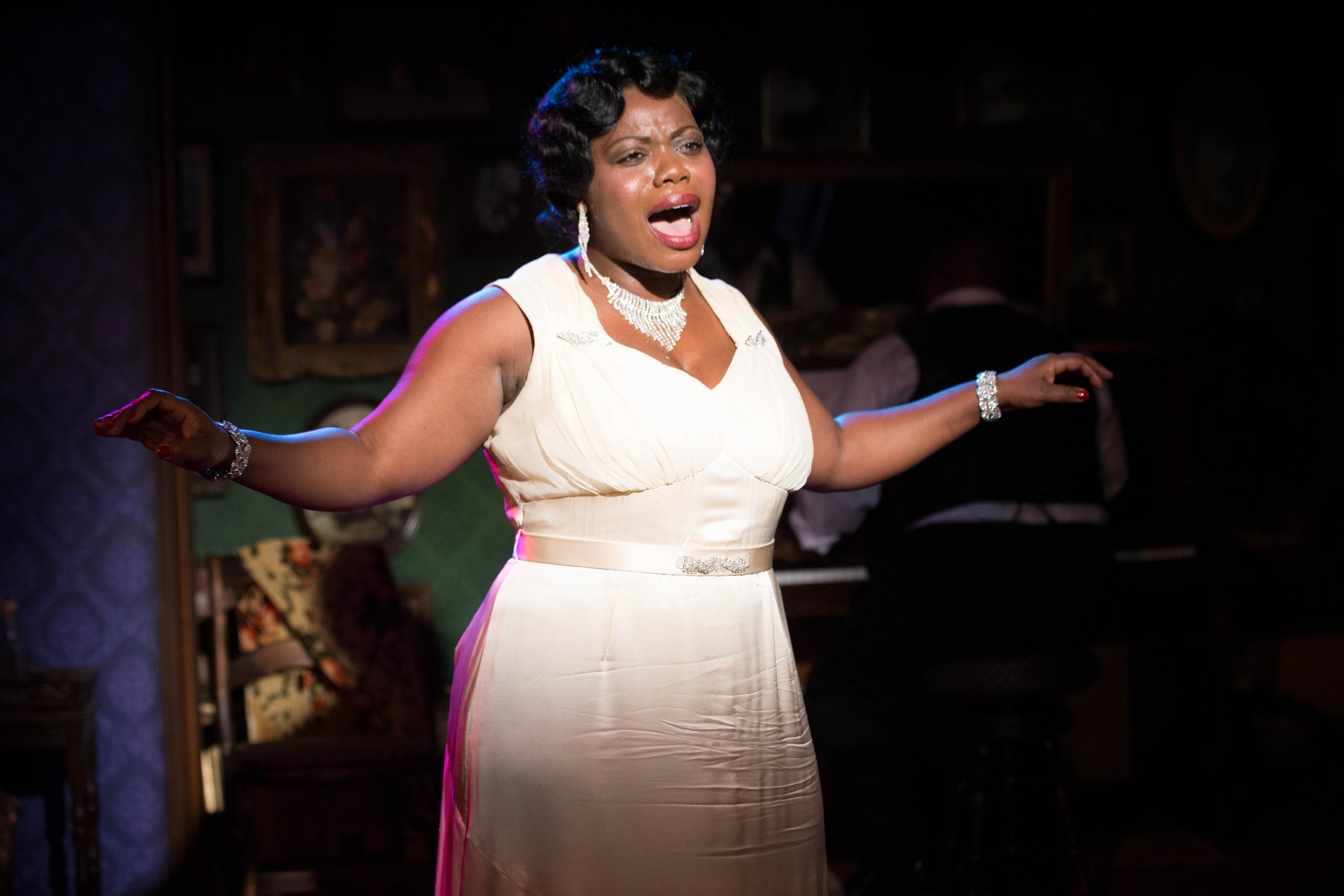 Milwaukee Repertory Theater -  The Devil's Music The Life and Blues of Bessie Smith  in the Stackner CabaretFeatured Zonya Love as Bessie; background DeMone. Photo by Tony Duvall.