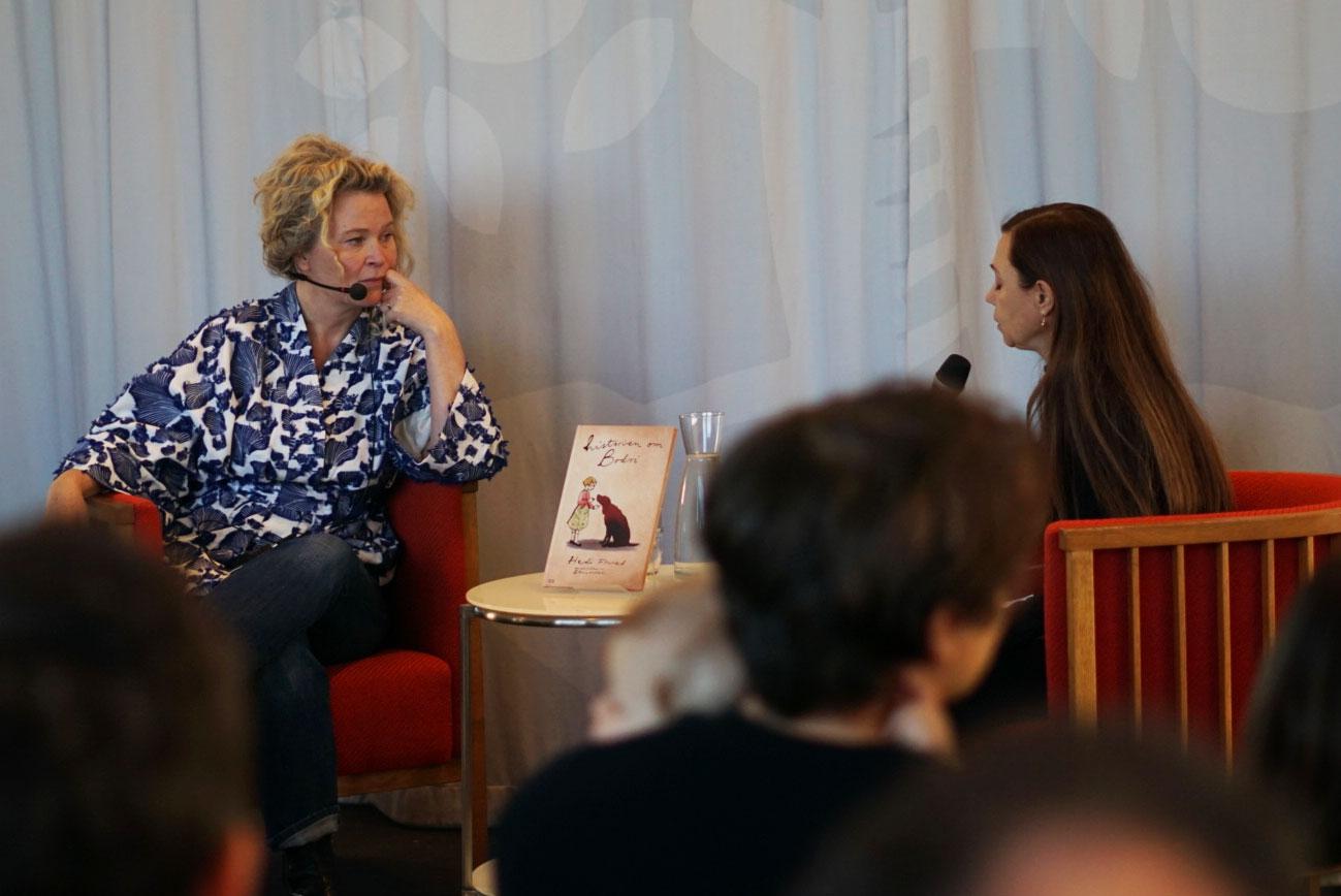 """Stina Wirsén intervjuas om arbetet med boken """"Historien om Bodri"""""""