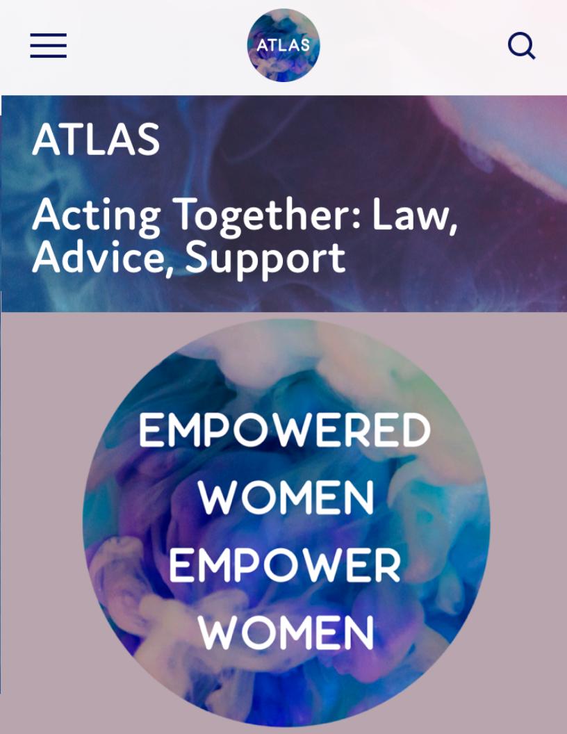 For the online community ATLAS Women: - The full package: a logo + branding identity, website design, social media set up, merchandise design, photography