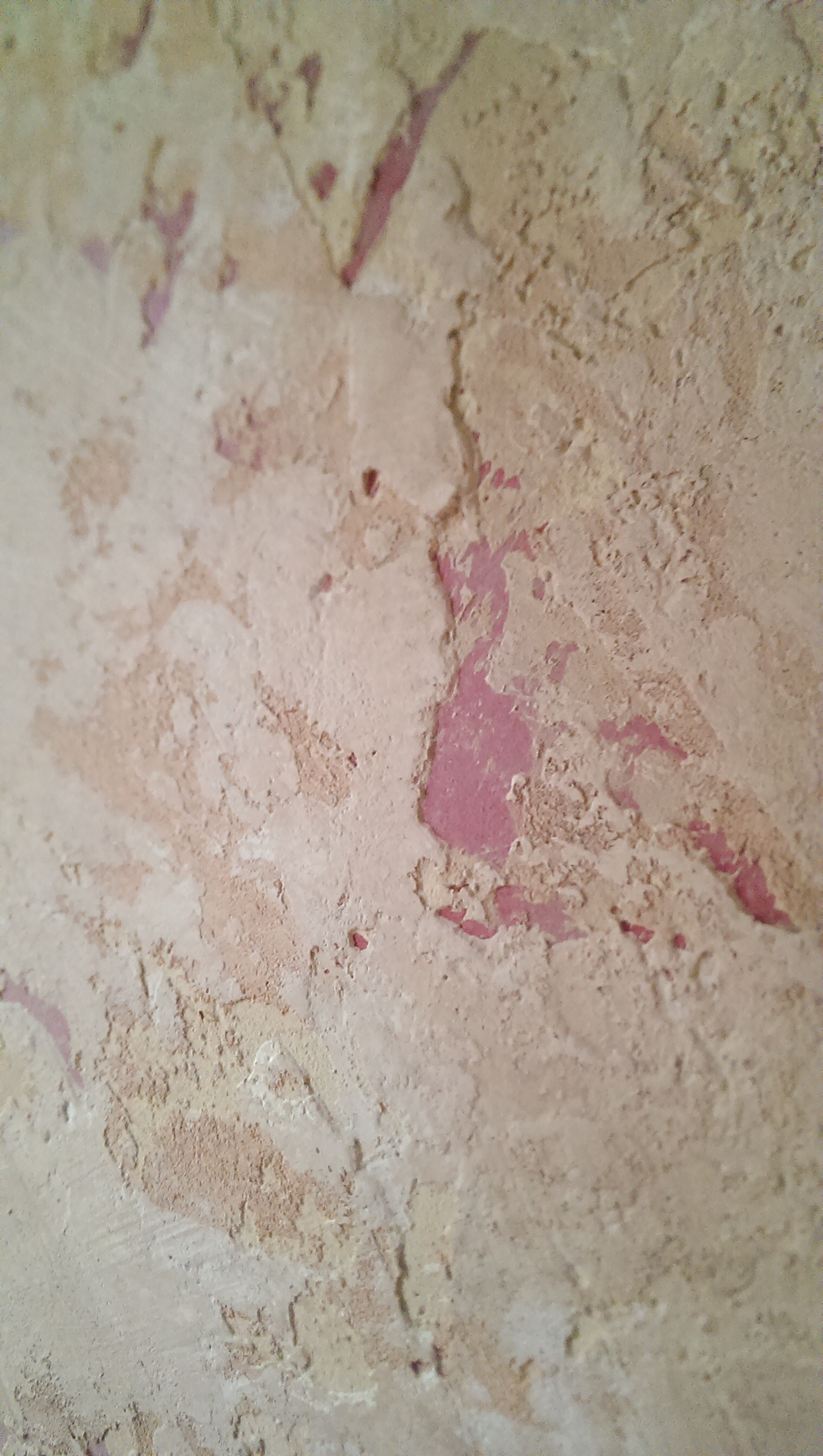 Tuscan plaster wall finish detail