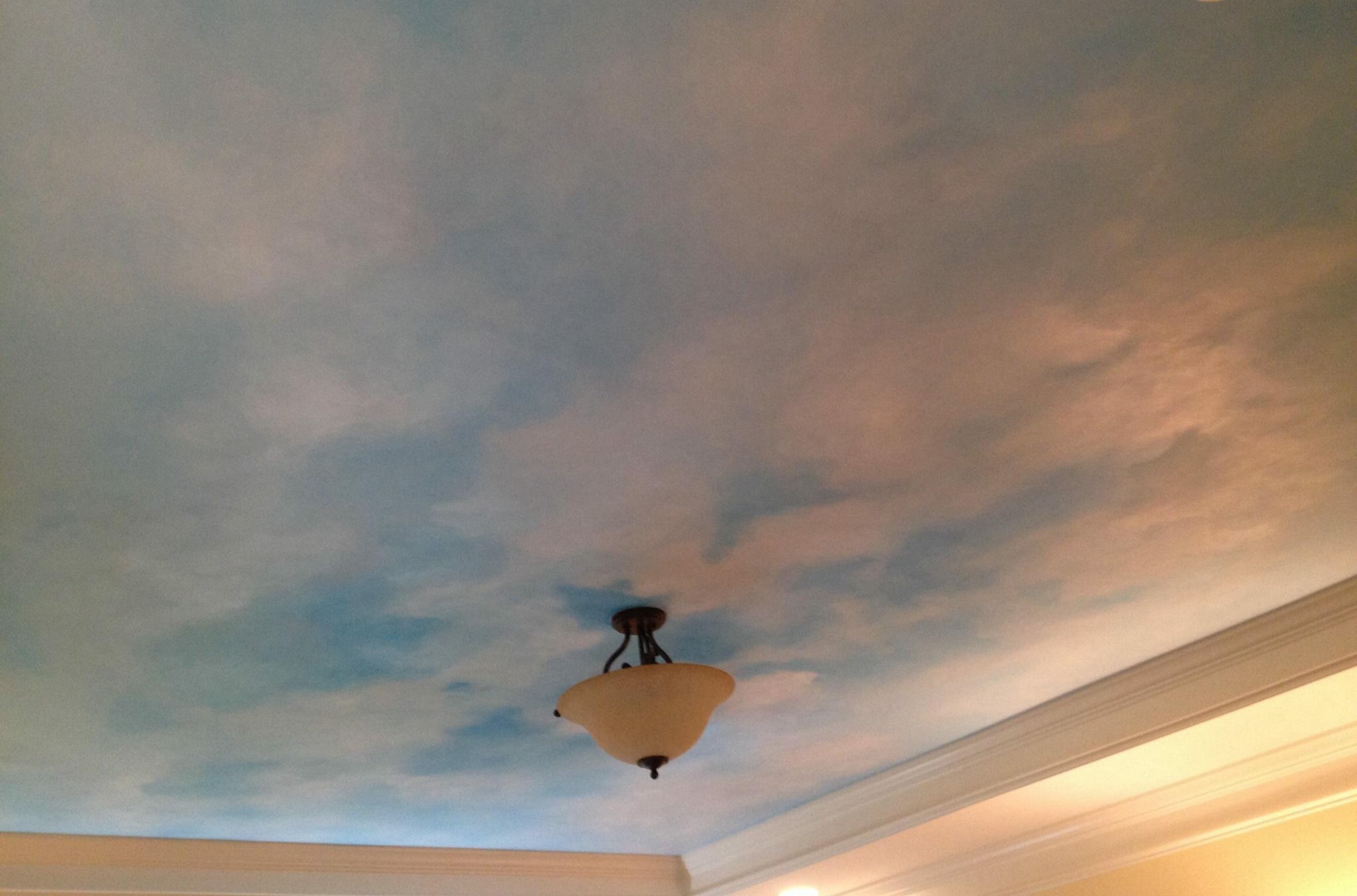 Bedroom ceiling sky and clouds