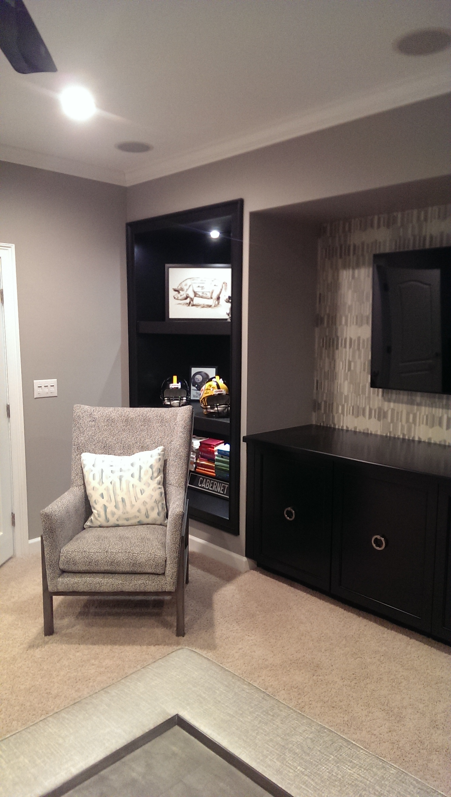 Black Lacquered cabinets