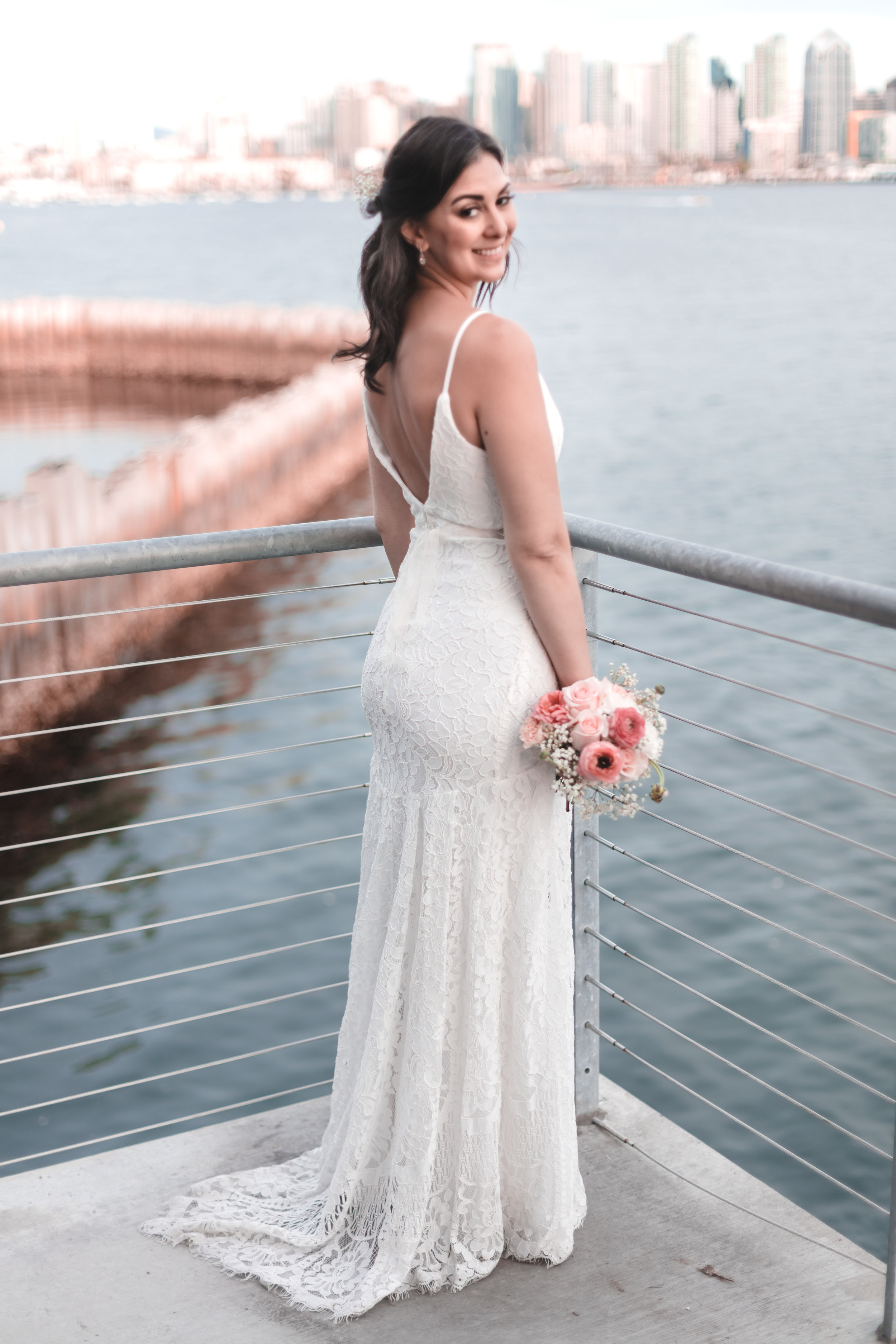 Bridal Portraits in San Diego Harbor