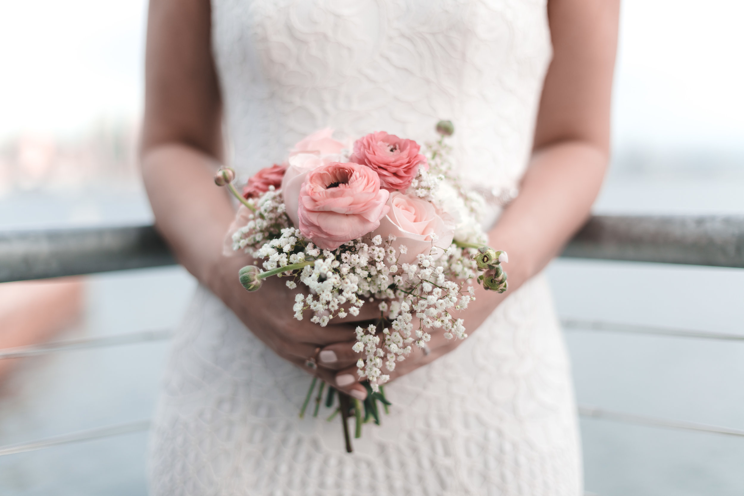 Wedding Photographer captures a bouquet in San Diego