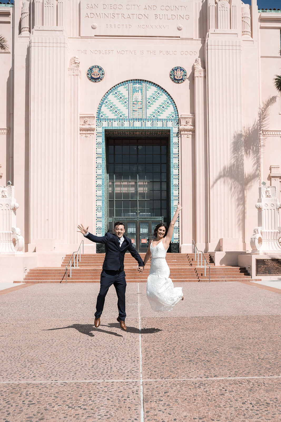 San Diego Courthouse Weddings outdoors