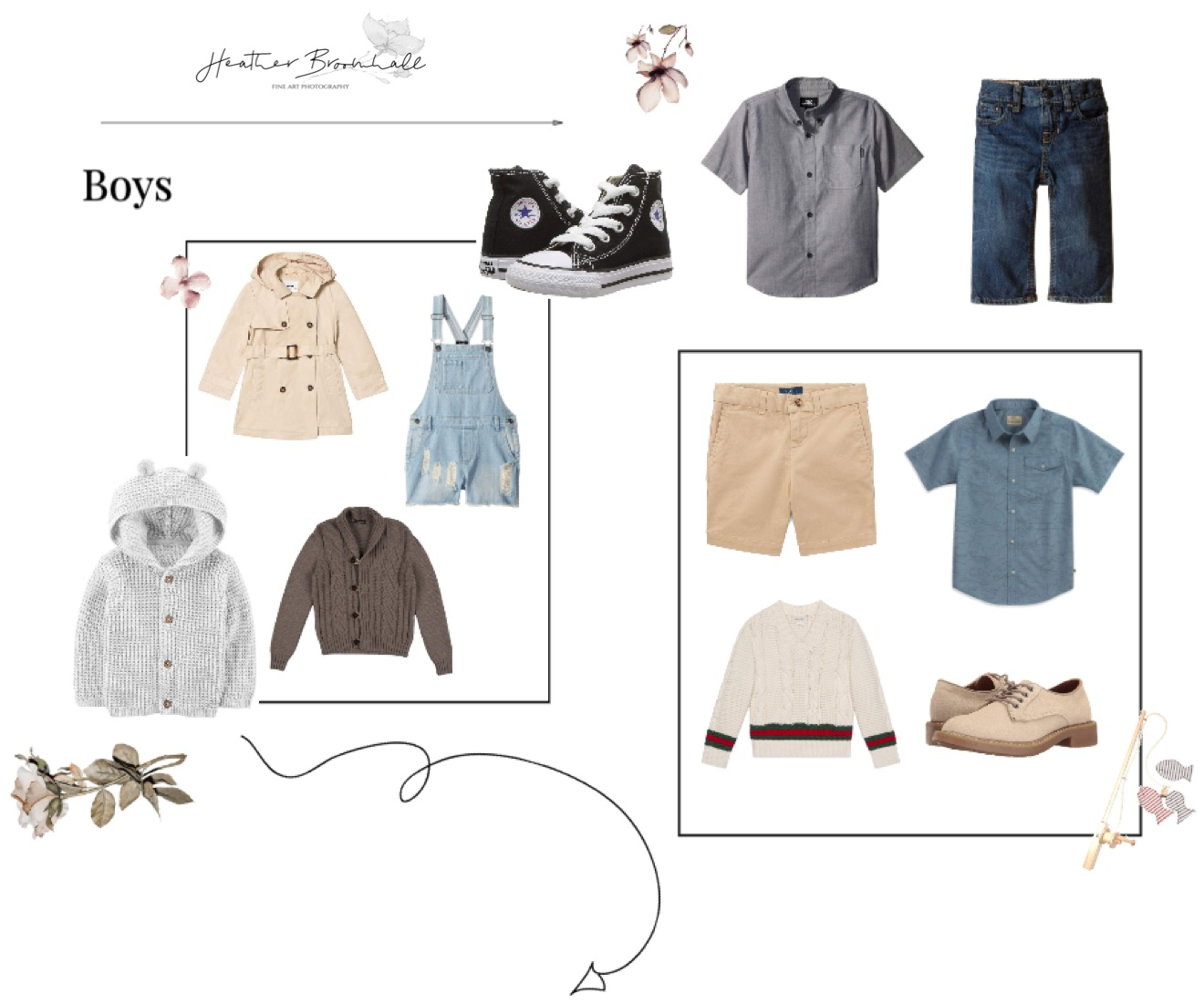 What To Wear for Family Photos for the Boys!