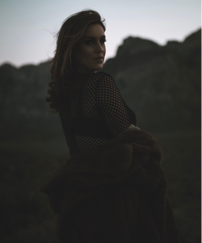 Blue Hour Portrait of a woman