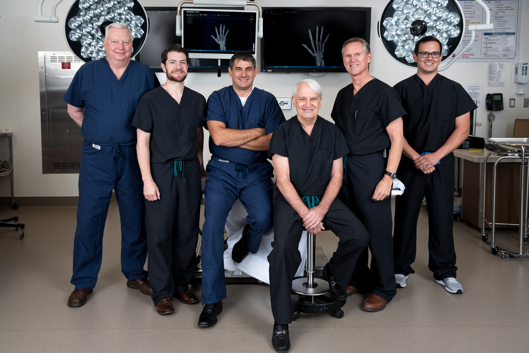 Left to Right: Dr. David Taylor, Dr. Graham Milam, Dr. Nikola Zivaljevic, Dr. David Zehr, Dr. Paul Ellis, Dr. Bryan Reyes