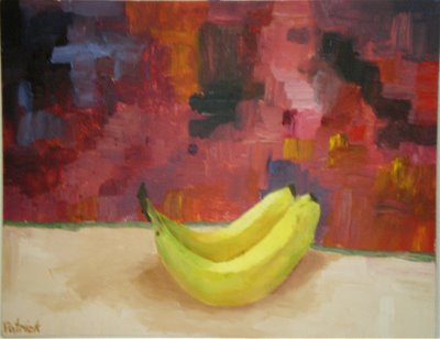 Bananas on Red