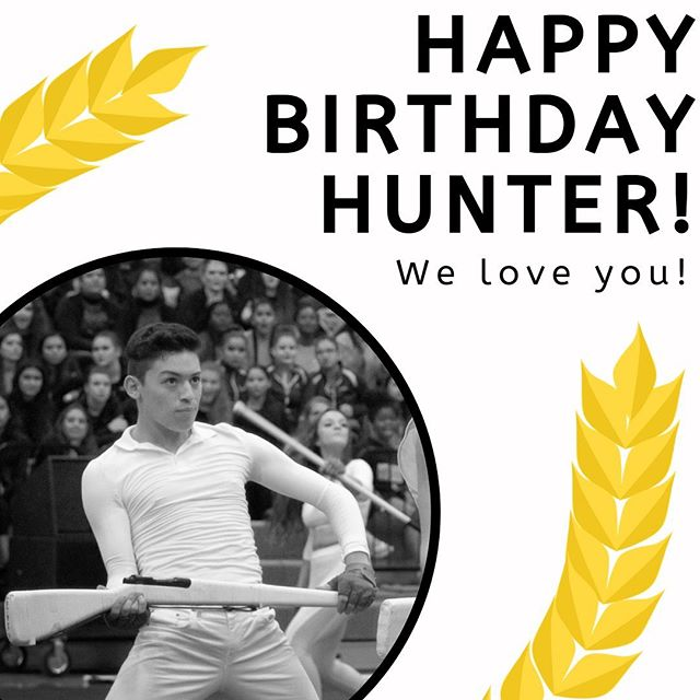 Happy birthday Hunter! 🥰💛