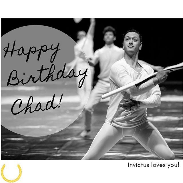 Happy birthday Chad! 🥳💛