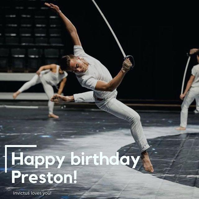 Happy birthday Preston!!! 🥳🤩💛 . . . 📸: @zach_ashcraft @musicandmarching #InvictUS #Invictus2019 #ThePathOfTotality #WGI #WGI2019 #TCGC #TexasColorguardCircuit #TCGC2019 #winterguard #colorguard #flag #rifle #sabre #dance #Invictus #Austin #Texas #donate #performingarts #nonprofit
