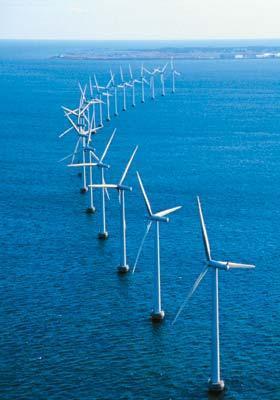 Wind Turbine Farm near             Middelgrundsfortet, Denmark