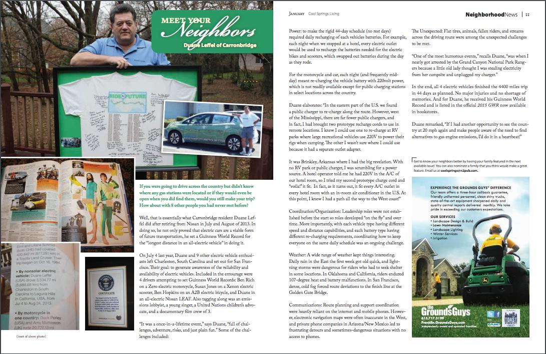 Cool Springs Living is a local publication in Franklin, Tennessee