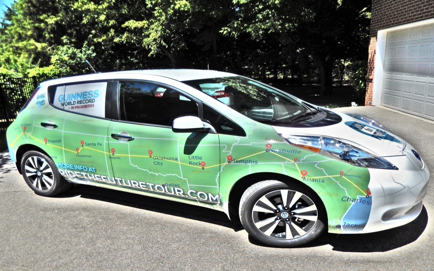 "My Nissan LEAF, aka ""Green Lightning"""