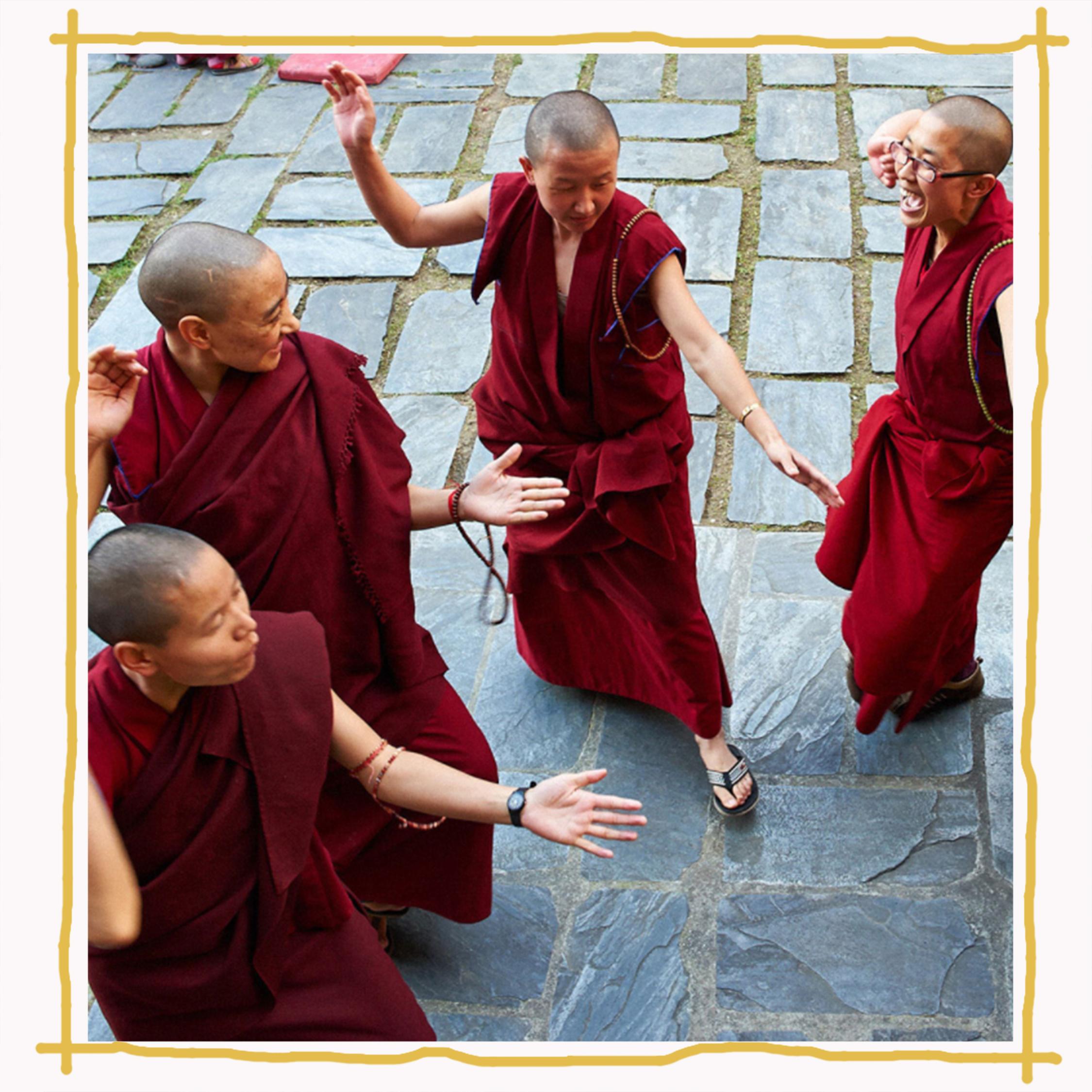 Tibetan nuns in celebration  Image: Olivier Adam