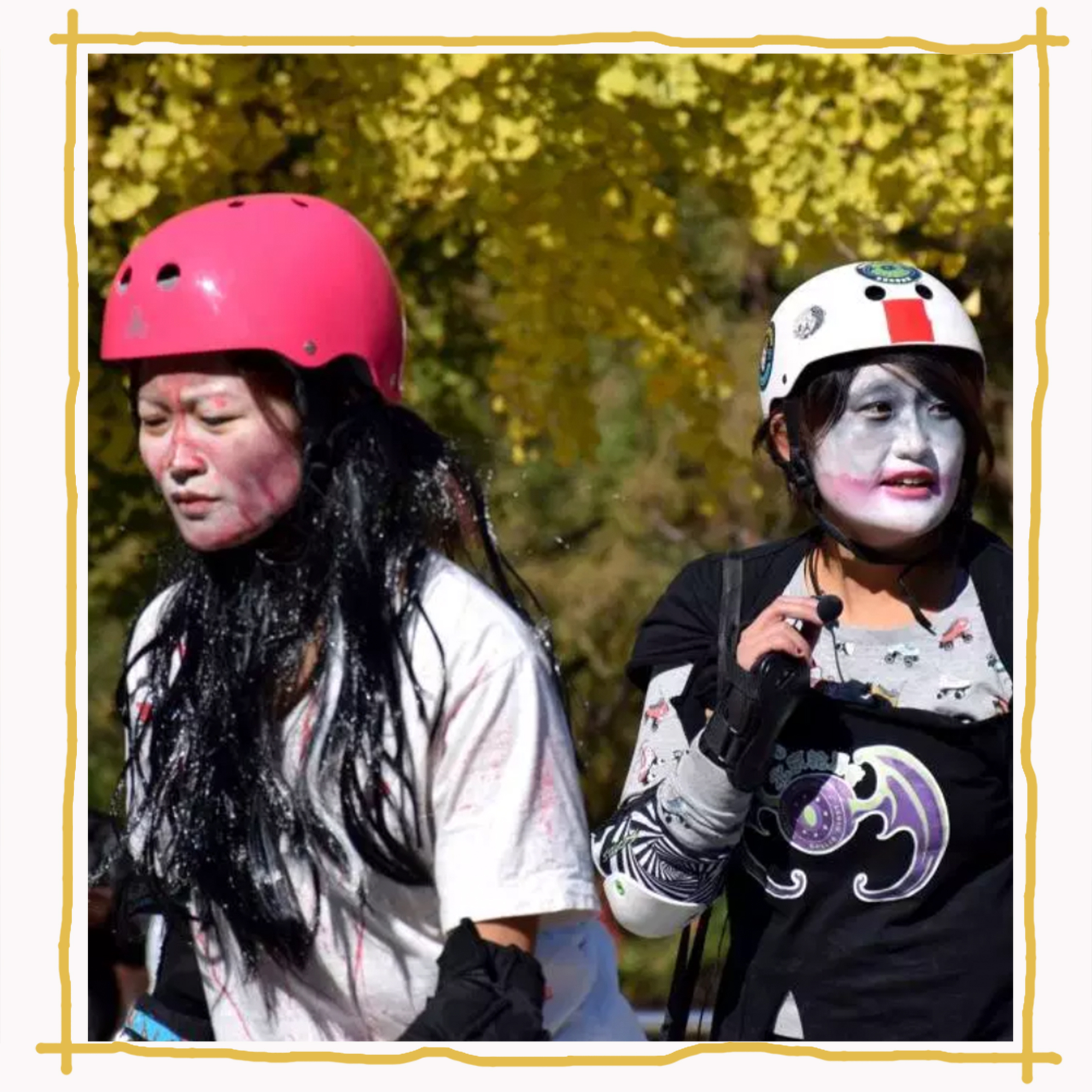 Women in self-made outfits playing the Roller Derby in Beijing  Image:  Facebook