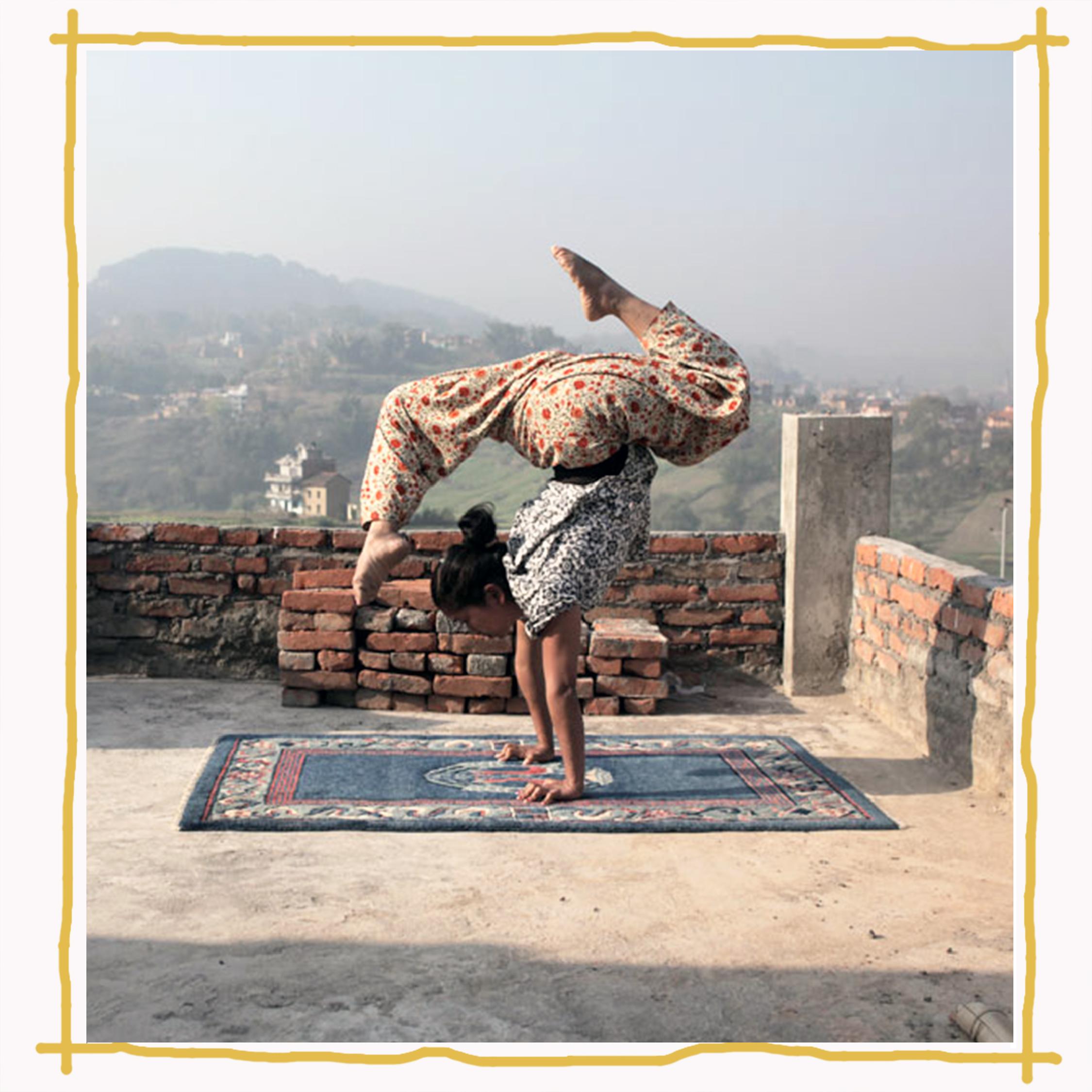 Survivor of trafficking in Nepal practicing routines for Circus Khatmandu  Image:  Satya Films