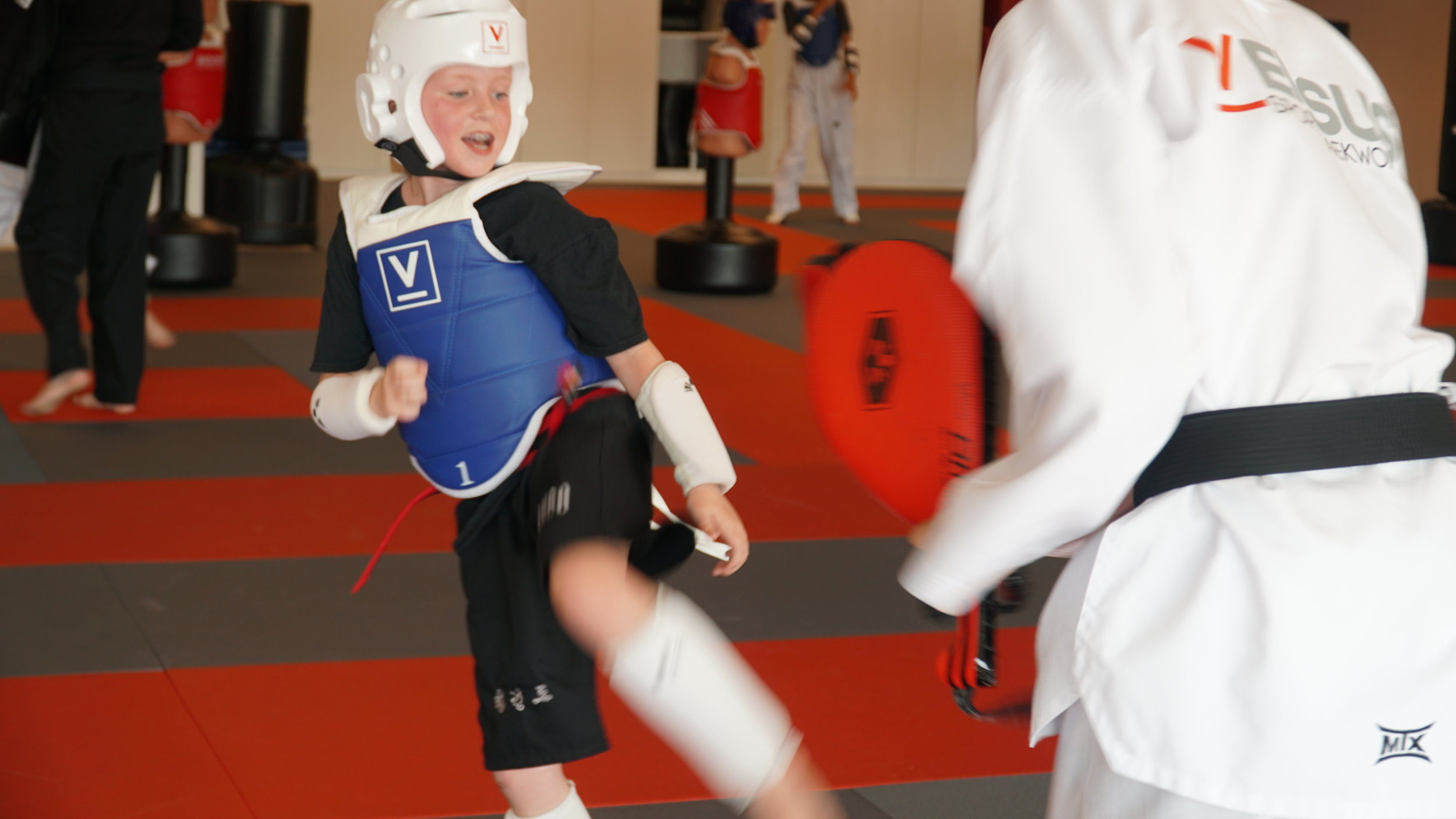 PERSONAL GROWTH - Vesus Sport Taekwondo believes that the traditional values of martial arts including respect, discipline, and confidence should always be at the core of training in the sport of taekwondo. Through our foundation as martial artists, our students strive for balance between the body, personality and mind.