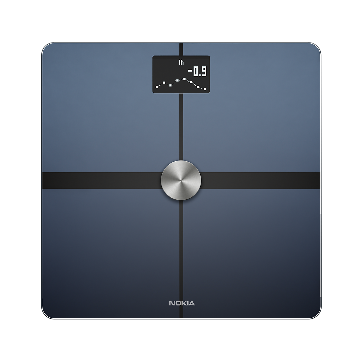 Nokia Body+ Wifi Scale - A WiFi scale that uses patented Position ControlTM technology to deliver the most accurate body composition readings (weight, body fat and water percentage, muscle mass and bone mass). Nokia Body+ provides immediate on-screen feedback and automatically synchronizes with your smartphone to display trends and help you reach your weight goals. Full body composition - Track weight, BMI, total body fat and water percentage plus bone and muscle mass Best-in-class accuracy - Get high-accuracy measurements via Position ControlTM technology, a patented body position detector. 9 to 396 lbs - 0,2 lbs precision. Get personalized coaching via the Health Mate application that turns your raw data into in-depth graphs of weight, body mass index, fat mass, muscle mass, water mass and bone mass while giving you advice to help you reach your objectives. Nutrition tracking - Set a weight goal and manage your daily calorie budget with integrated nutrition tracking Available in black or white. Available on iOS and Android, smartphone or tablet with WiFi or Bluetooth connectivity. Automatic synchronization. Buy on the Nokia Health Official Store : 24-months warranty, 30 days money back guarantee, exclusive offers, dedicated support.