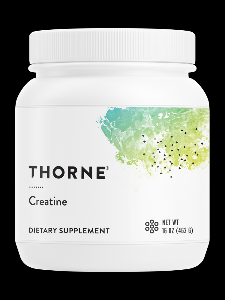 Thorne Creatine - Supports energy production and helps maintain and promote lean body mass, muscle endurance, power*Creatine is an amino acid that supports increases in work capacity and muscle power output. It also promotes lean body mass and supports cognitive function.* Thorne Creatine mixes well with liquids. NSF Certified for Sport®