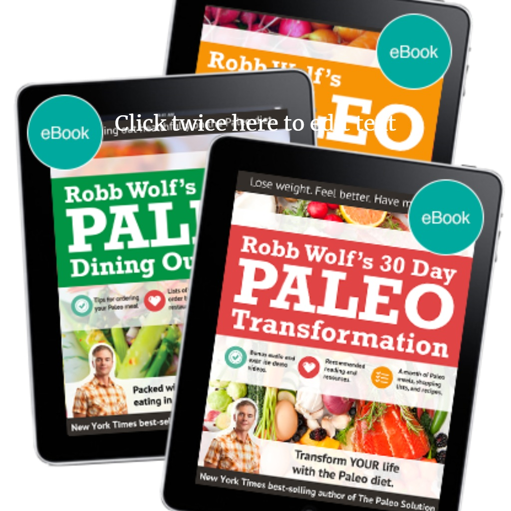 Robb Wolf's Paleo Diet Guides - The best way to achieve real sustainable success with the Paleo Diet.