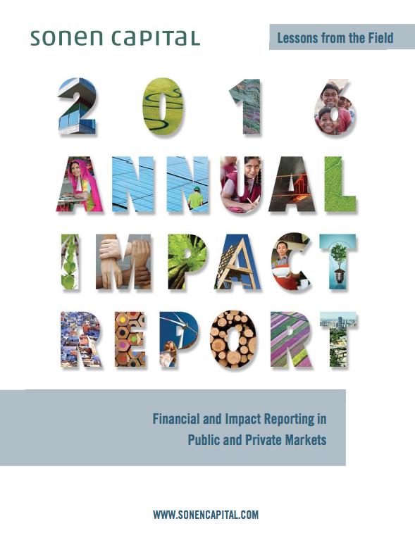 Sonen CapitalAnnual Impact Report 2016