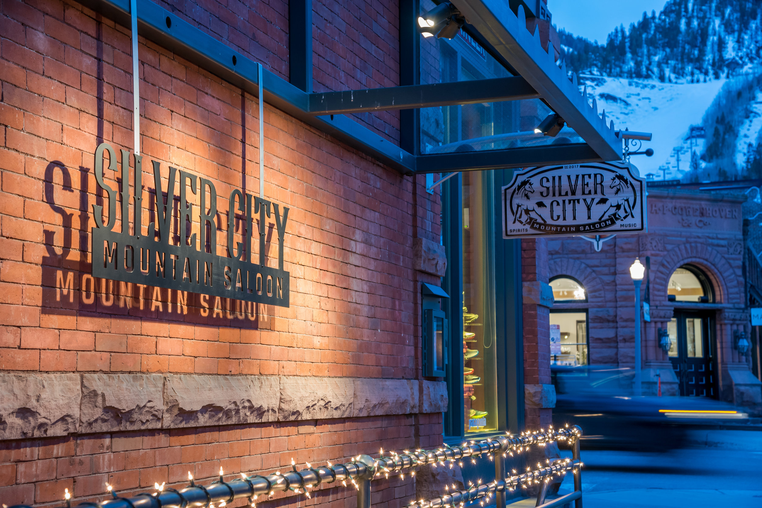 Silver City is located in Aspen's historic Elks Building, constructed in 1891 during the mining boom.