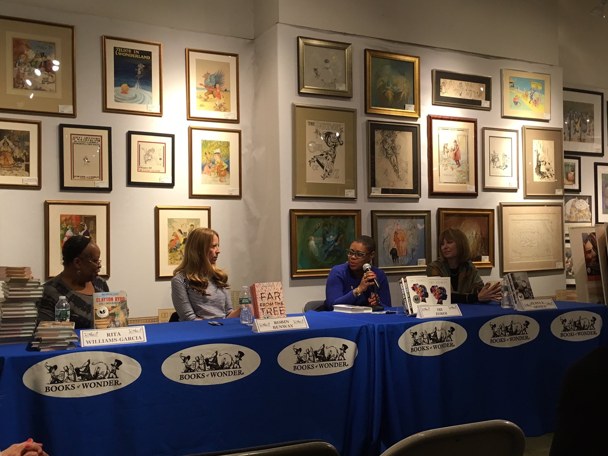 Signing with Rita, Ibi, and Elana at Books of Wonder! (Erika was busy being awesome at Mashable, so she couldn't make it.)