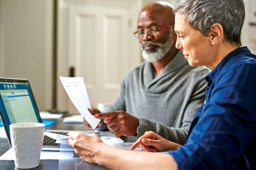 Couple Reviewing Retirement Plan
