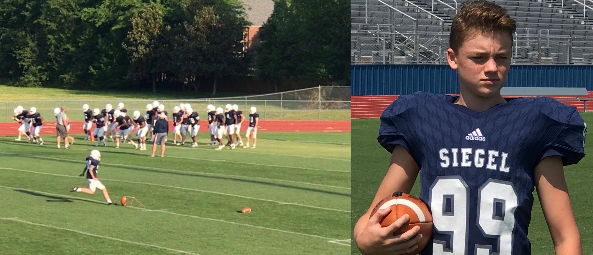 Drew Sledge @sledge_drew // Football place kicker and punter; soccer // Graduating class 2021
