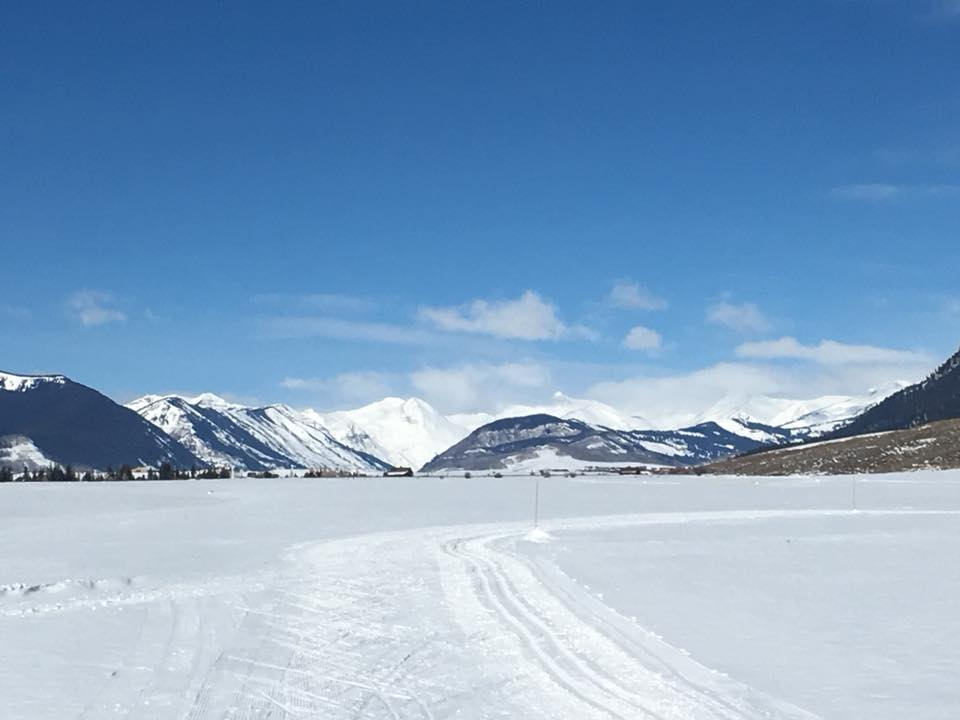 Nordic ski track looking towards the Paradise Divide
