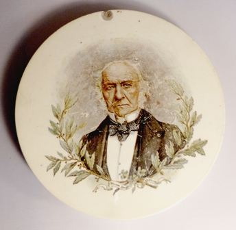 William Gladstone memorial plate from the 1890s. -