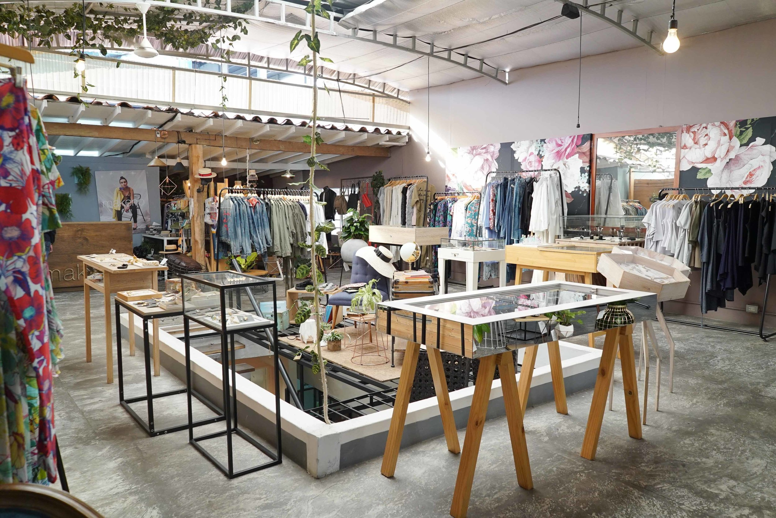 A wide view of Makeno store shows its vast selection of products.