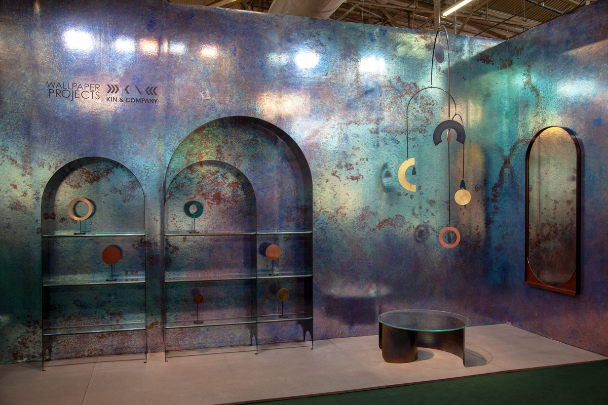 The collaborative booth shared by Wallpaper Projects and Kin & Company was a mesmerizing point of the show.