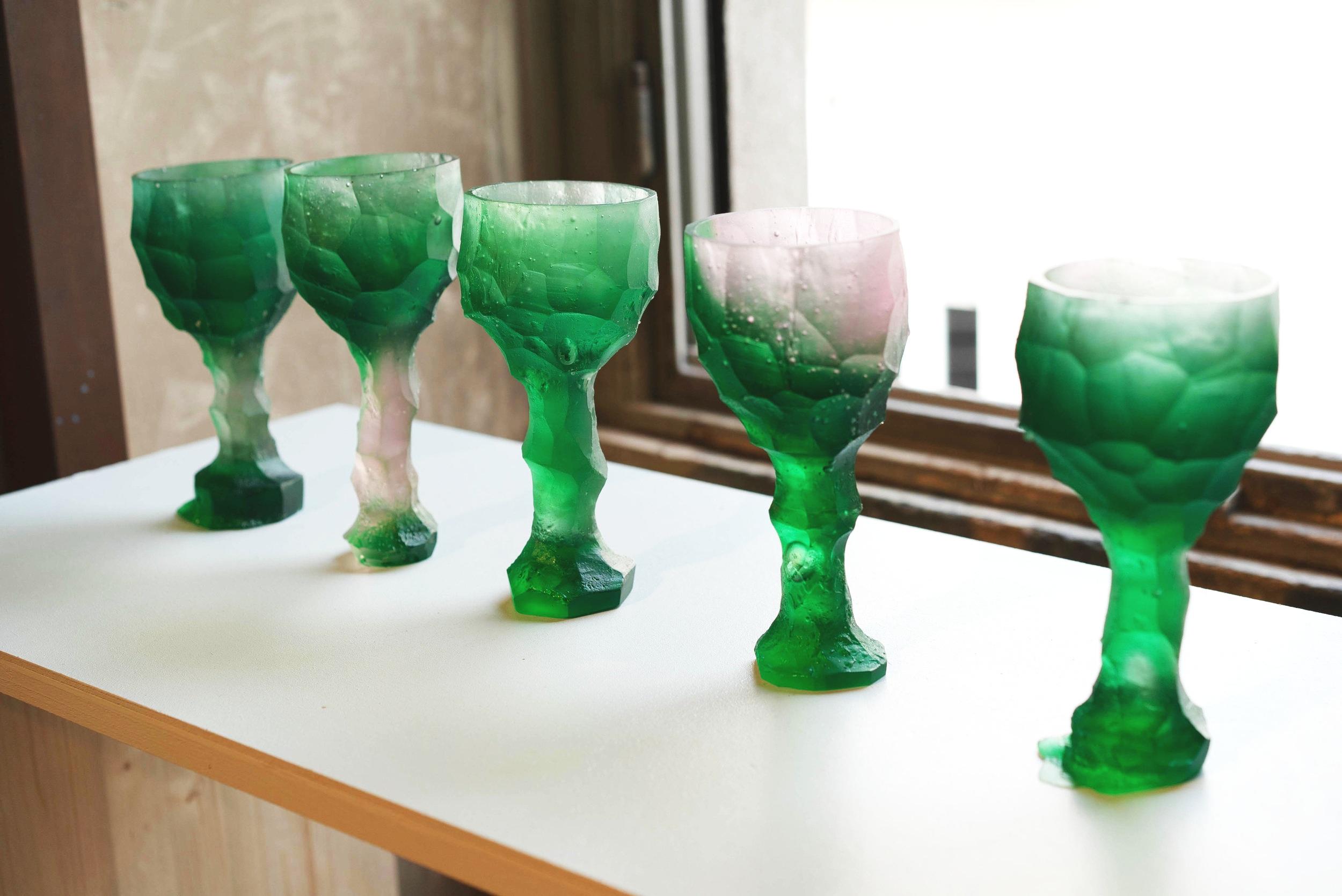 Glasses by  Alissa Volkchova .