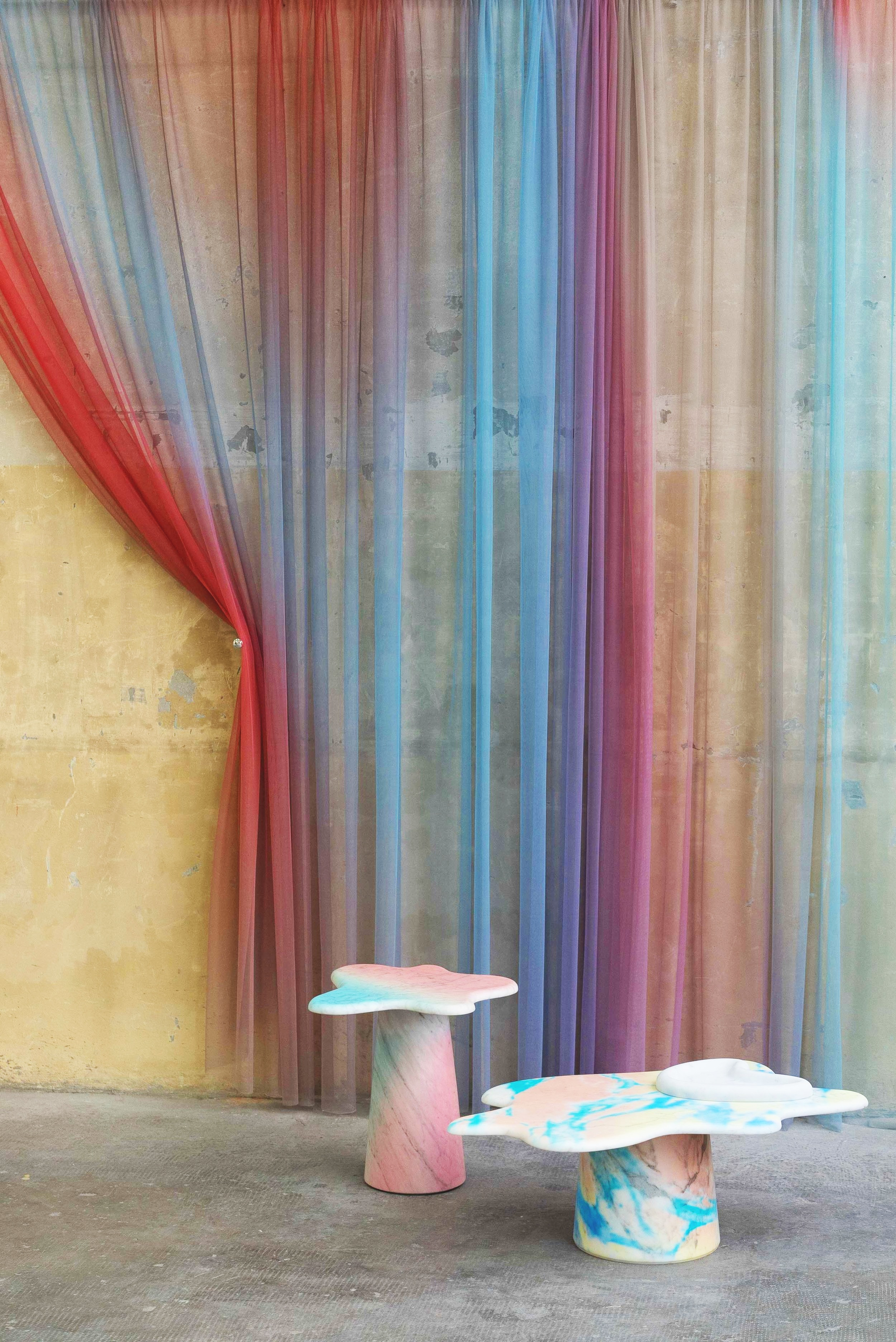 Tables by  Federica Elmo  and curtain by  4Spaces .