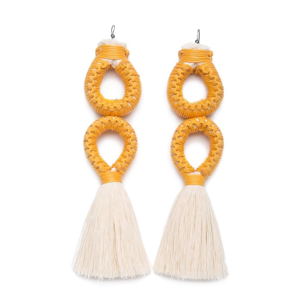 Earrings by Caralarga.