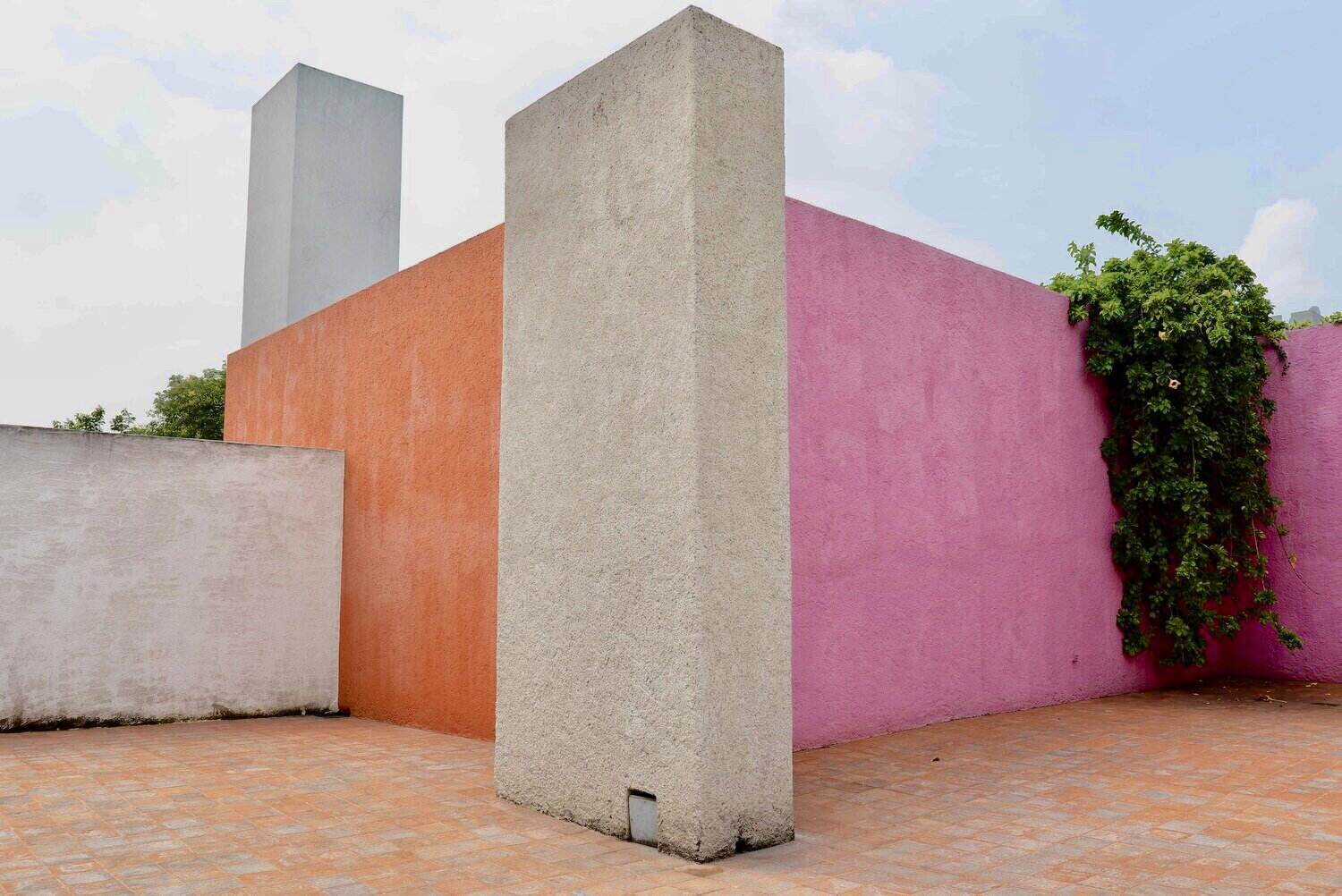 Luis Barragán's famous color-blocked terrace.