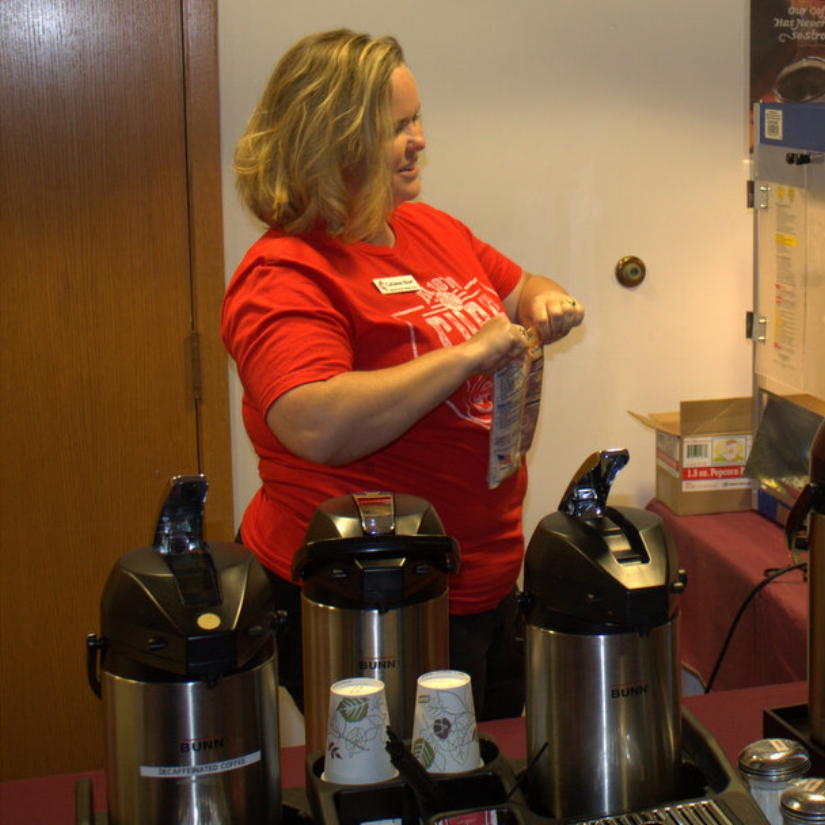Hospitality   If you're interested in preparing and cleaning up refreshments such as coffee, tea, water and snacks during our Sunday morning fellowship hour (before, between and after services) then this may be just the team to join in a rotation or just a one time event.  Contact  Carianne Short  for more info.