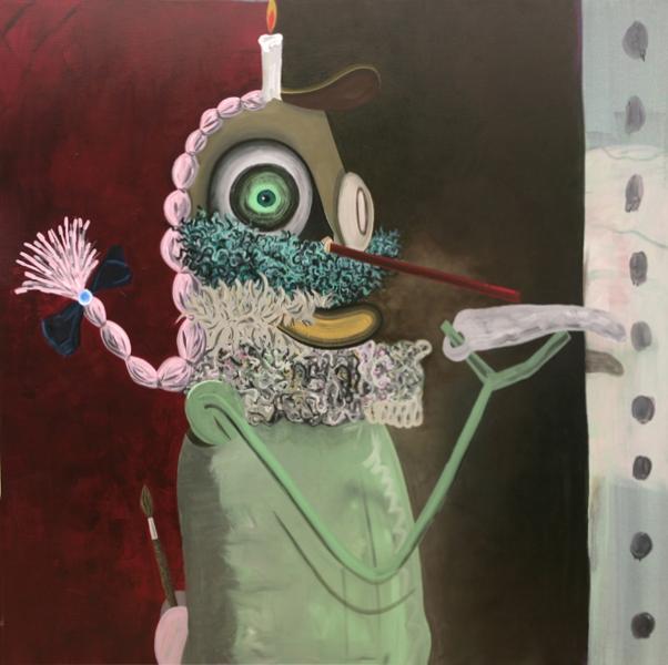 I'm a Painter, 2009 Acrylic on linen. 190x190cm