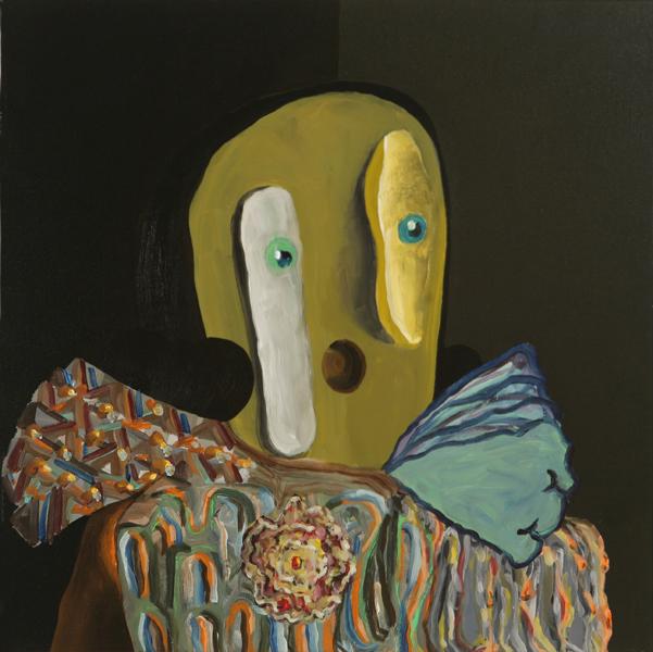 Mirón, 2009 Acrylic on linen. 50x50cm