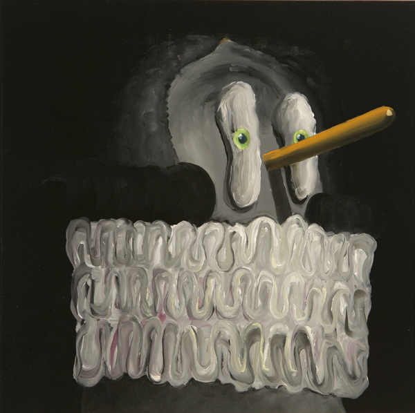 Rey Pasmado, 2009 Acrylic on canvas. 50x50cm