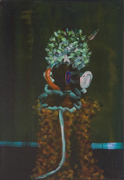 Hidalgo con Sombrero de Hojas Frescas, 2011 Acrylic on linen. 35x24'5cm
