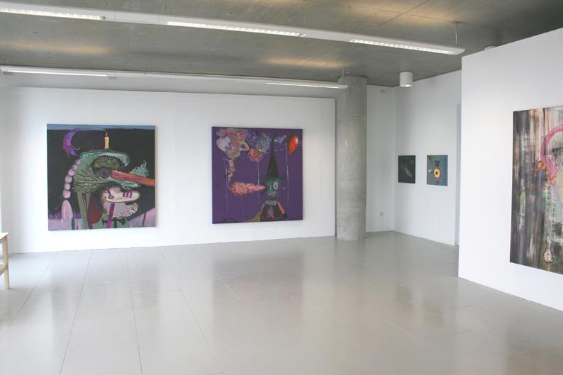 Installation at Ben Pimlott Building. Goldsmiths MFA Show, 2008
